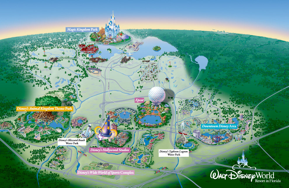 Walt Disney World Resort Florida Map Theme Park Attractions And